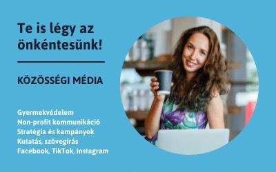 Kék Vonal Önkéntes – Közösségi média (Facebook, Instagram, TikTok)